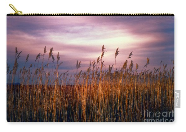 Carry-all Pouch featuring the photograph Evening's Candles by Susan Warren