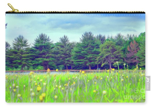 Evergreen Lake - Impressionism Carry-all Pouch