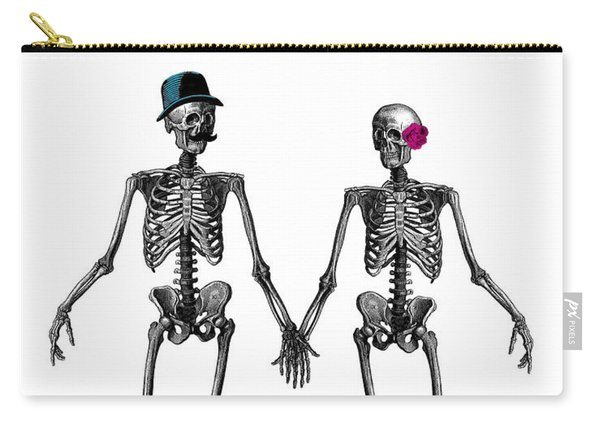 Everlasting Love Couple Skeleton Couple Carry-all Pouch