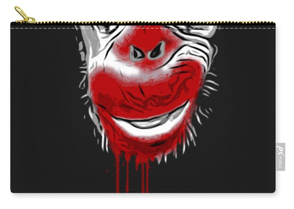 Evil Monkey Clown Carry-all Pouch