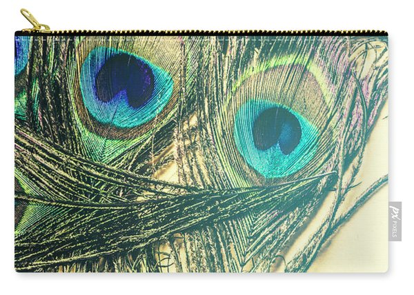 Exotic Eye Of The Peacock Carry-all Pouch