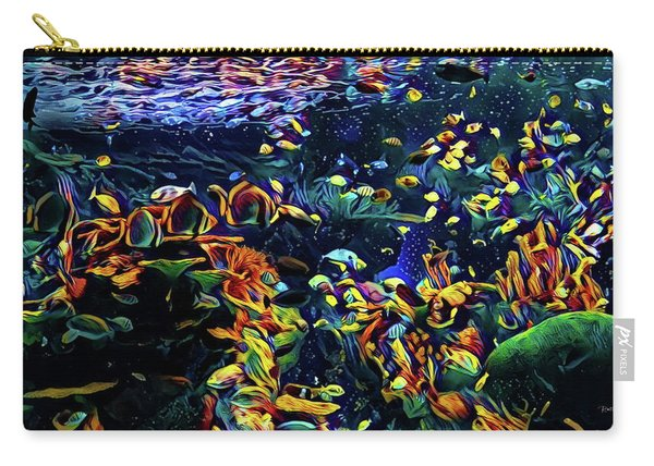 Exotic Tropical Marine Fish Carry-all Pouch