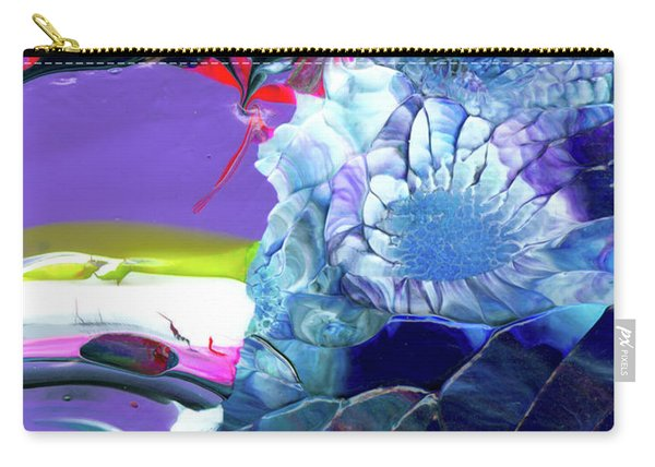 Exotic White Rose Island Carry-all Pouch
