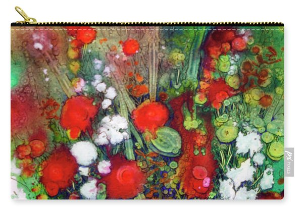 Explosion In Red Carry-all Pouch