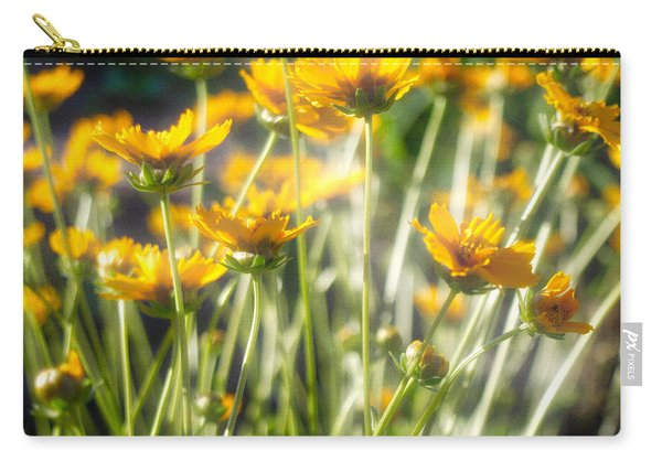 Carry-all Pouch featuring the photograph Explosion Of Yellow by Michael Colgate