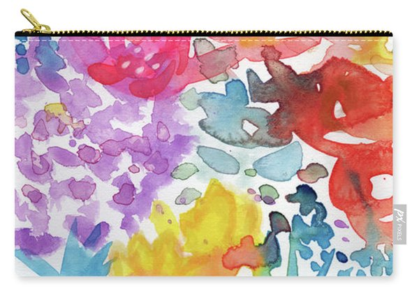 Expressionist Watercolor Garden- Art By Linda Woods Carry-all Pouch