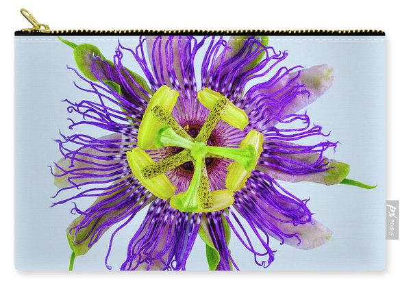 Expressive Yellow Green And Violet Passion Flower 50674b Carry-all Pouch