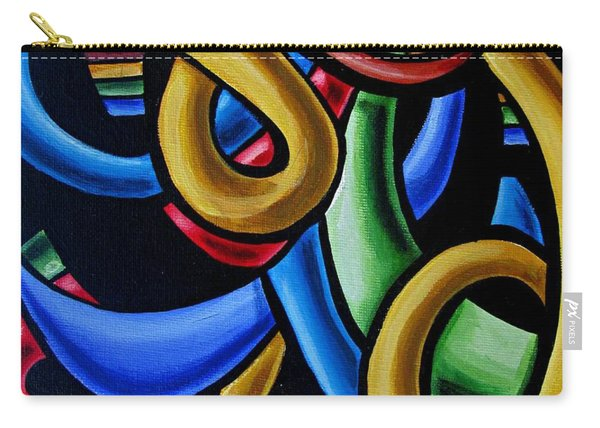 Colorful Illusion Optical Eye Art Painting Chromatic Art - Multicolor Chromatic Energy Flow Art  Carry-all Pouch
