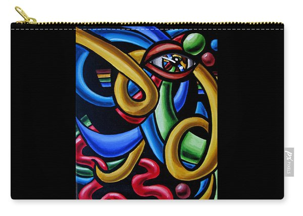 Eye Art Print Chromatic Abstract Art Painting Colorful Optical Artwork  Carry-all Pouch