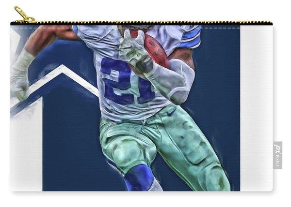 Ezekiel Elliott Dallas Cowboys Oil Art Series 3 Carry-all Pouch