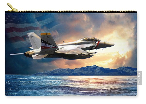 Bounty Hunter Fighter Jet, America The Beautiful Carry-all Pouch