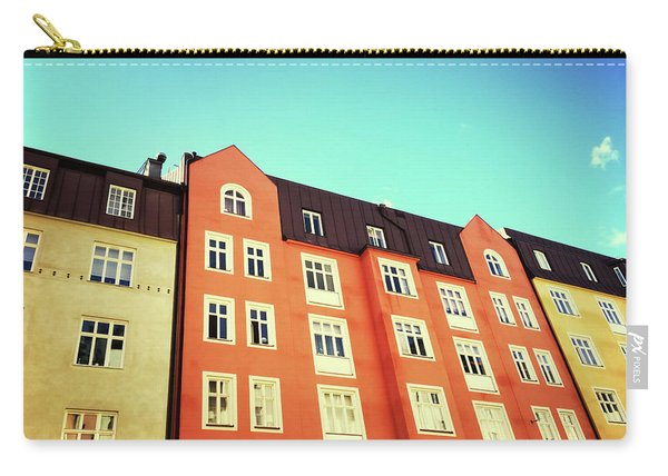 Facades Of Colorful Buildings In Stockholm Carry-all Pouch
