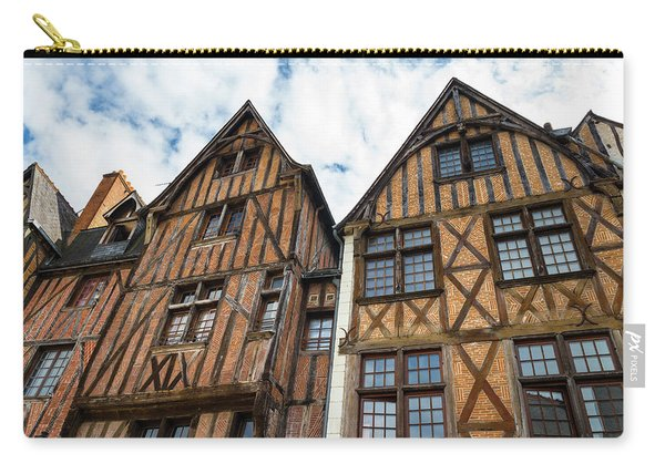 Facades Of Half-timbered Houses In Tours, France Carry-all Pouch
