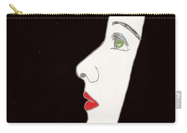 Face In Profile Carry-all Pouch
