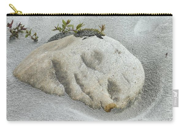 Face In The Sand At Baird Glacier Outwash Carry-all Pouch