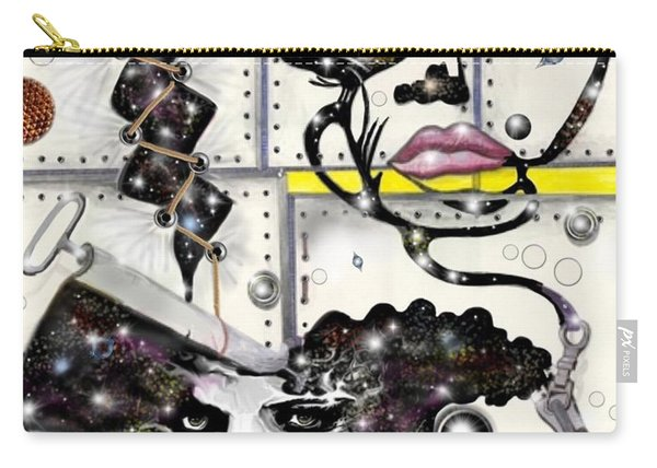 Faces In Space Carry-all Pouch
