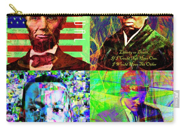 Faces Of Equality And Freedom In America Abe Lincoln Harriet Tubman Martin Luther King Jfk 20170828 Carry-all Pouch