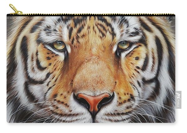 Faces Of The Wild - Amur Tiger Carry-all Pouch