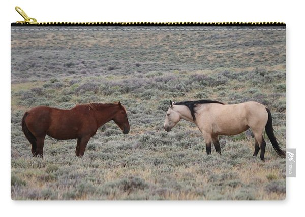 Carry-all Pouch featuring the photograph Facing Off  by Christy Pooschke