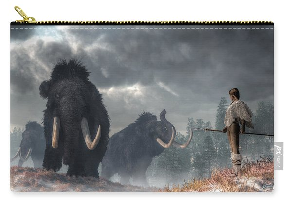 Facing The Mammoths Carry-all Pouch