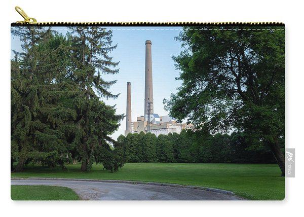 Factory Next To A Park With Smoke Stacks In Sheboygan Wisconsin Carry-all Pouch