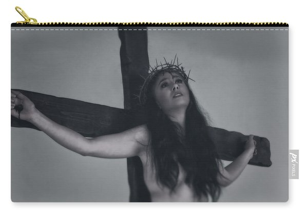 Faded Portrait Of A Female Jesus Carry-all Pouch
