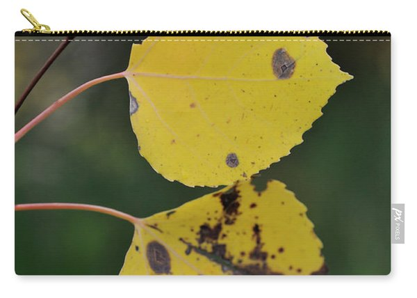 Carry-all Pouch featuring the photograph Fading Aspen I by Ron Cline