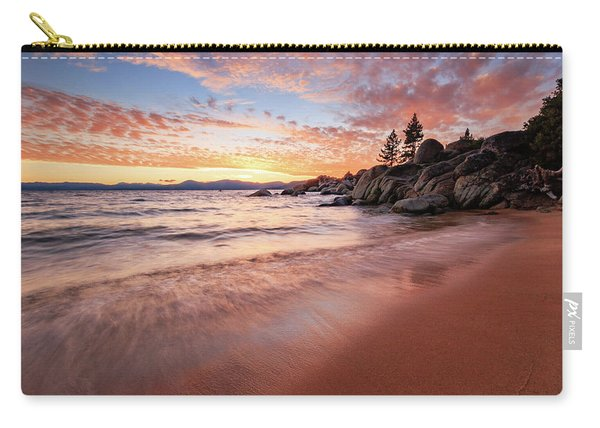 Fading Sunset Waves At Sand Harbor Carry-all Pouch