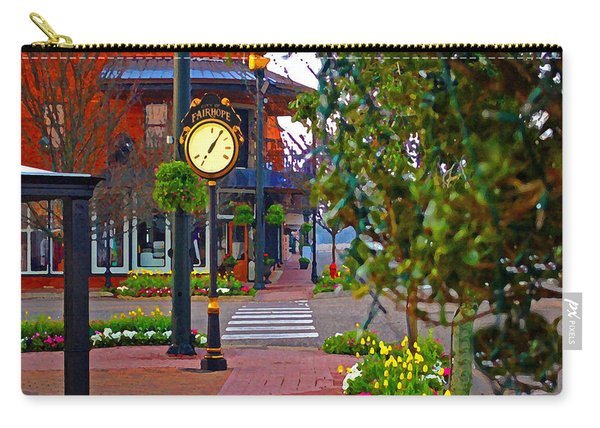 Fairhope Ave With Clock Down Section Street Carry-all Pouch