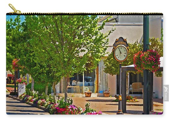 Fairhope Ave With Clock Looking North Up Section Street Carry-all Pouch