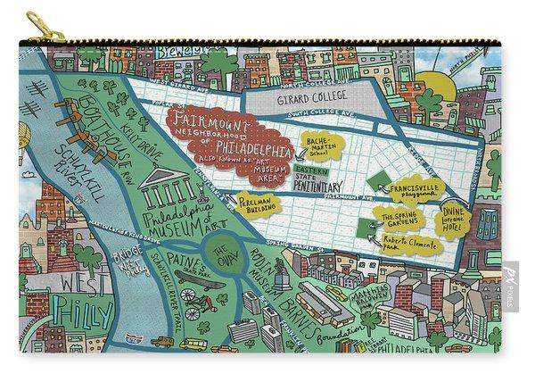Fairmount Neighborhood Map Carry-all Pouch