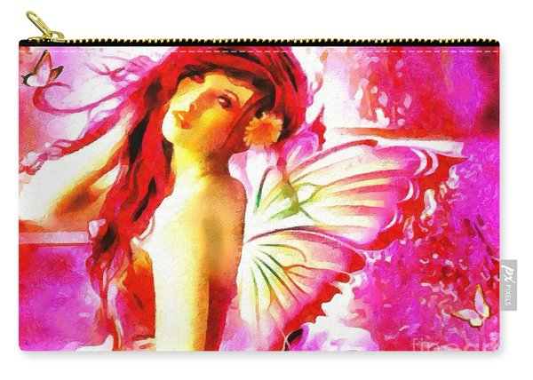 Fairy Angel In The Mix In Thick Paint Carry-all Pouch