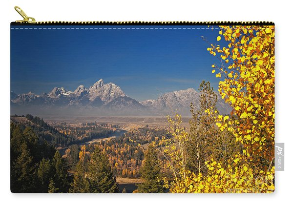 Carry-all Pouch featuring the photograph Fall Colors At The Snake River Overlook by Sam Antonio Photography