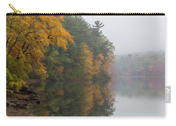Fall Foliage In The Fog Carry-all Pouch