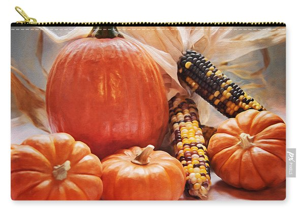 Fall Harvest - Thanksgiving Still Life Carry-all Pouch