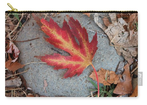 Carry-all Pouch featuring the photograph Fall Leaf  by Christy Pooschke