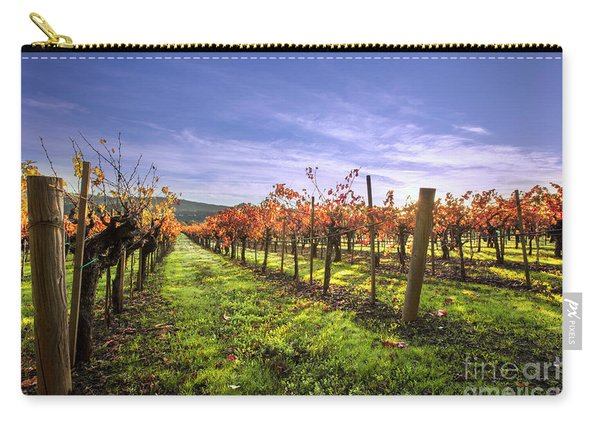 Fall Leaves At The Vineyard Carry-all Pouch