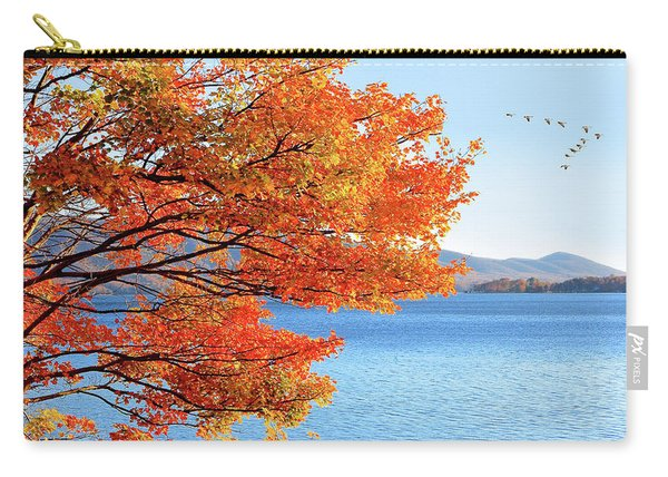 Fall Maple Tree Graces Smith Mountain Lake, Va Carry-all Pouch