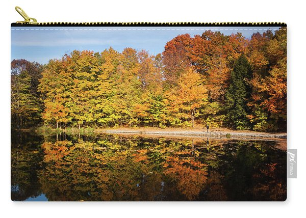 Fall Ontario Forest Reflecting In Pond  Carry-all Pouch
