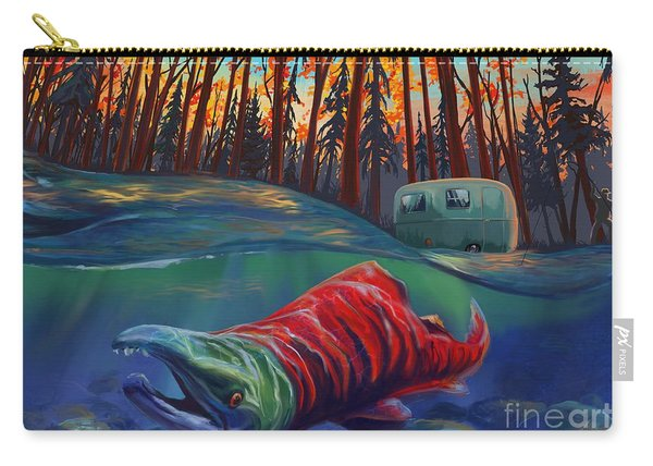 Fall Salmon Fishing Carry-all Pouch