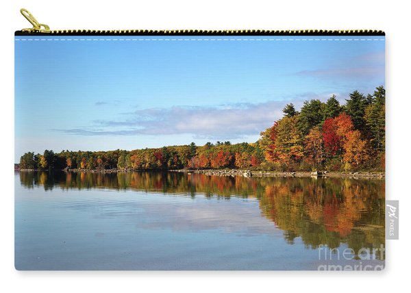 Fall Tree Reflections Lake Sabago Maine Carry-all Pouch