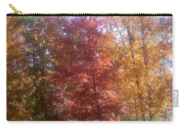 Carry-all Pouch featuring the photograph Fall Trees by Jimmy Clark