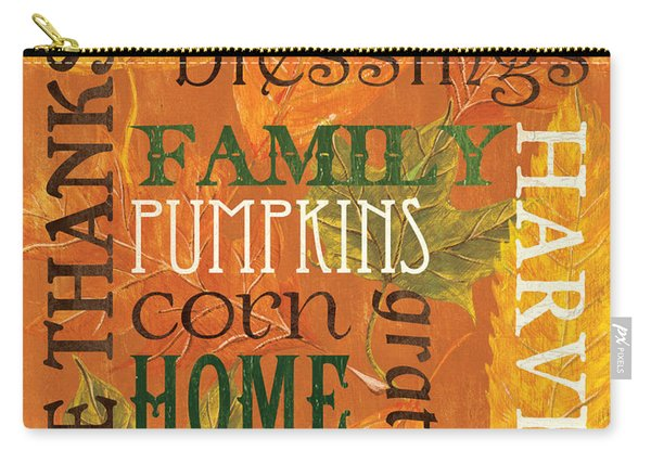 Fall Typography 1 Carry-all Pouch