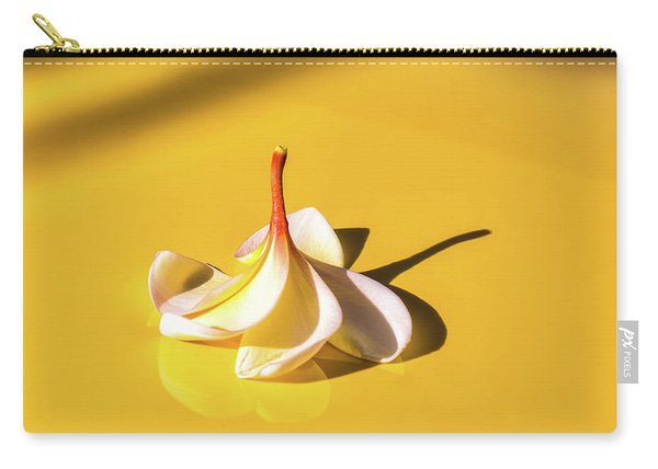Fallen Frangipani On Mustang Carry-all Pouch