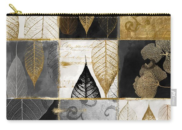 Fallen Gold Autumn Leaves Carry-all Pouch