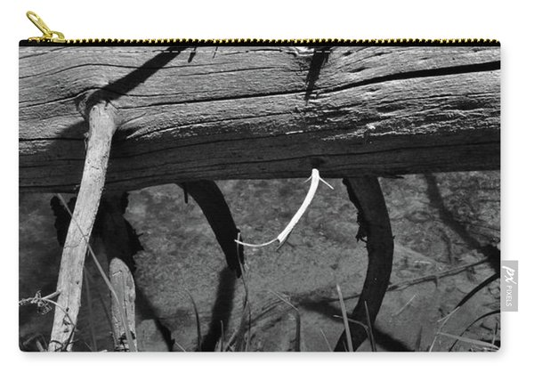 Carry-all Pouch featuring the photograph Fallen Spruce by Ron Cline