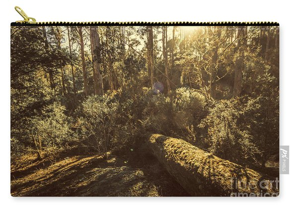 Fallen Tree In Foliage Carry-all Pouch