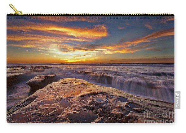 Carry-all Pouch featuring the photograph Falling Water by Sam Antonio Photography