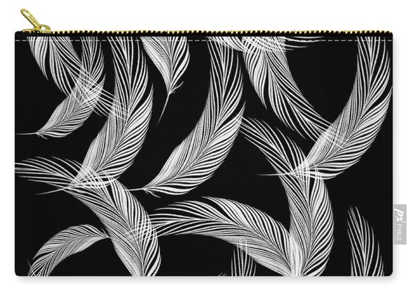 Falling White Feathers Carry-all Pouch