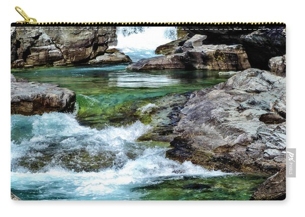 Falls Above Lake Mc Donald Carry-all Pouch
